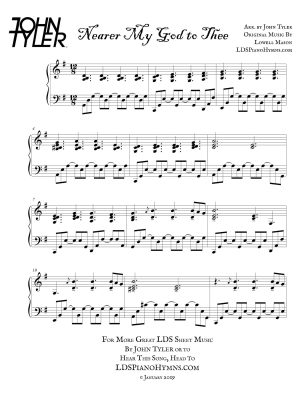 Nearer My God to Thee Sample Page arr by John Tyler - LDSPianoHymns.com